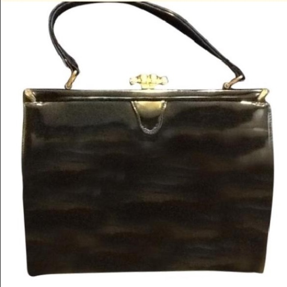 Saks Fifth Avenue Handbags - Saks Fifth Avenue Vintage Patent Leather Satchel